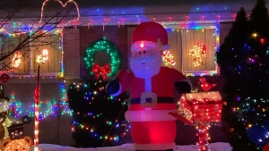Arnprior launches its second Christmas Lights contest on Friday. Dennis and Hazel Schnob were the winners in 2019. (Dylan Dyson/CTV News Ottawa)