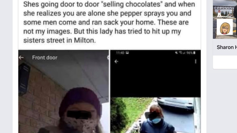 An example of a social media posting which London Police have discredited (Source: Facebook)