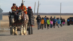Sakimay First Nation holds smudge walk