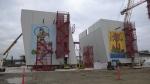 Murals shown at the Gordie Howe International Bridge Site in Windsor, Ont. on Friday, Nov. 27, 2020. (Chris Campbell/CTV Windsor)
