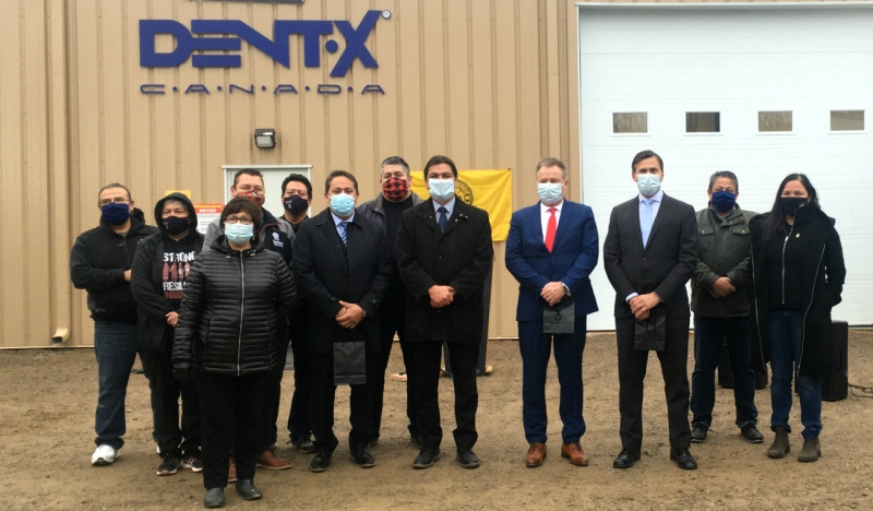 The PPE production facility is located in Wiikwemkoong and is producing medical-grade masks that are being distributed all over the country. So far, it's created 50 new full time jobs. (Alana Everson/CTV News)