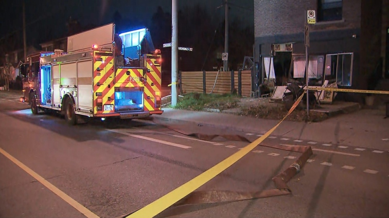 Fire crews responded to a house explosion in East York.
