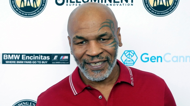 Mike Tyson attends a celebrity golf tournament in Dana Point, Calif. (Photo by Willy Sanjuan/Invision/AP, File)