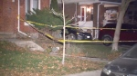 A man is in hospital with serious injuries after a shooting on Stephenson Avenue Saturday morning.