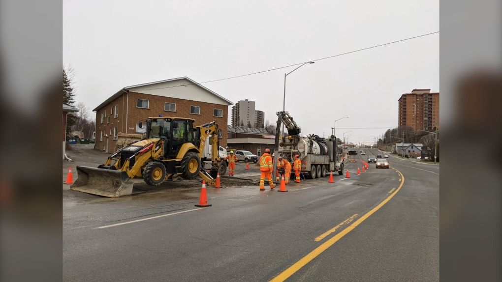water main break in sudbury sout end Nov.28/20