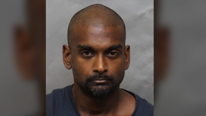 Toronto police are searching for 39-year-old Terry Baksh after he allegedly struck an officer with his vehicle and dragged him for more than 50 metres last week. (supplied)