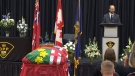 A funeral service is held for OPP Const. Marc Hovingh on Nov. 28, 2020.