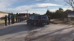 Departure of Const. Hovingh's funeral procession