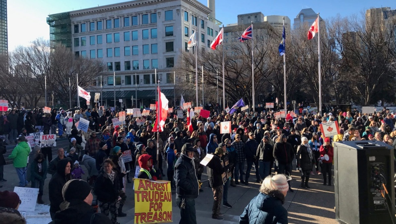 The Calgary Police Service says the lack of ticketing for violations at protest gatherings should not be viewed as the condoning of illegal actions and is often done out of consideration for public safety. (file)