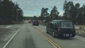 Cruiser cam footage: Const. Hovingh funeral escort