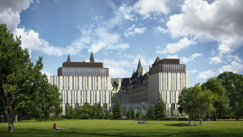 A new application has been filed with the City of Ottawa to build an expansion at the rear of the Fairmont Chateau Laurier. (Photo courtesy: Larco Investments)