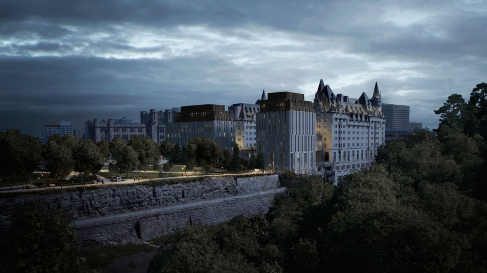 A look at the proposed new addition to the Fairmont Chateau Laurier. (Photo courtesy: Larco Investments)
