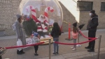 Santa visits Windsor