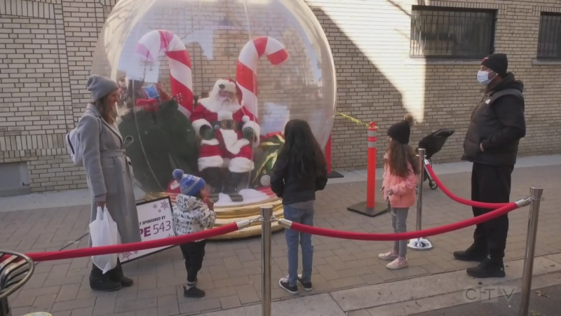 Santa visits Windsor