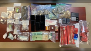 RCMP say they found drugs, illegal cigarettes, and other contraband in the Moncton homes. (Photo: New Brunswick RCMP)