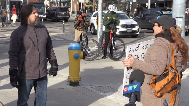 Anti-lockdown protest scarce in Waterloo