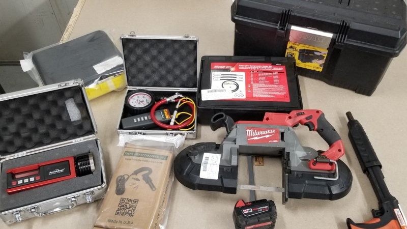 Police on Vancouver Island are looking for the owner of a set of tools that was seized during a vehicle stop earlier this week. (Nanaimo RCMP)