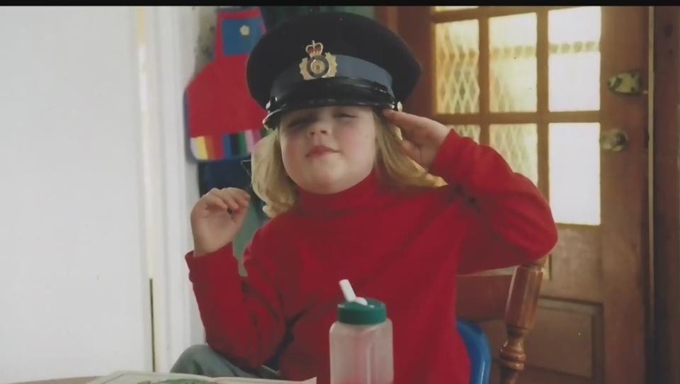 One of Marc Hovingh's children in his OPP cap