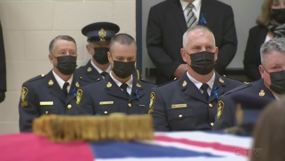 OPP colleagues mourn at Const. Marc Hovingh's funeral  (CTV Northern Ontario)