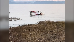 Two people are safe after their small plane crashed in the ocean south of Comox, near Royston, B.C. Saturday afternoon. (CTV)
