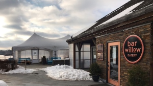 Bar Willow Eatery put tents on their patio, to increase their dining capacity and give people a comfortable place to eat. (Stefanie Davis/CTV News)
