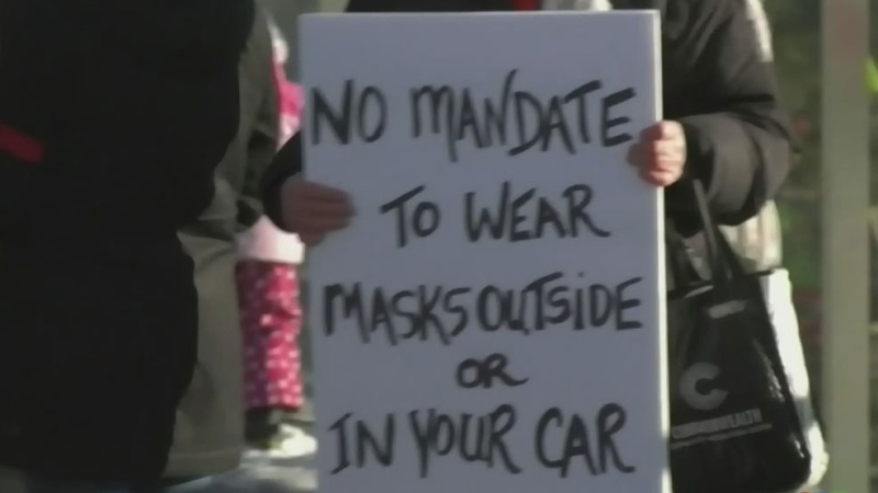 Anti-mask rally held in Edmonton