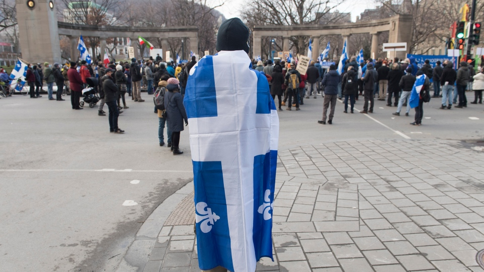 Protesters fight for French in Montreal