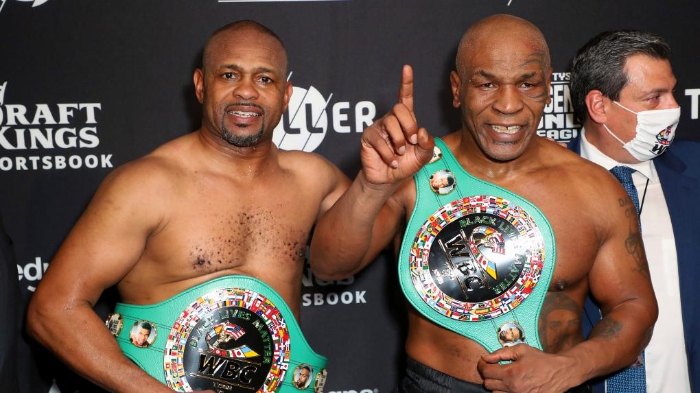 Mike Tyson draws with Jones Jr