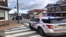 New Glasgow Regional Police and New Glasgow Fire Department closed nearby streets to vehicles and pedestrians for several hours during the incident.(Courtesy: New Glasgow Regional Police)