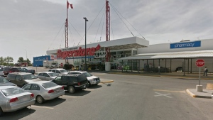 Three positive cases of COVID-19 were found in workers at this Real Canadian Superstore on northeast Calgary on Nov. 27. (File/Google Maps)