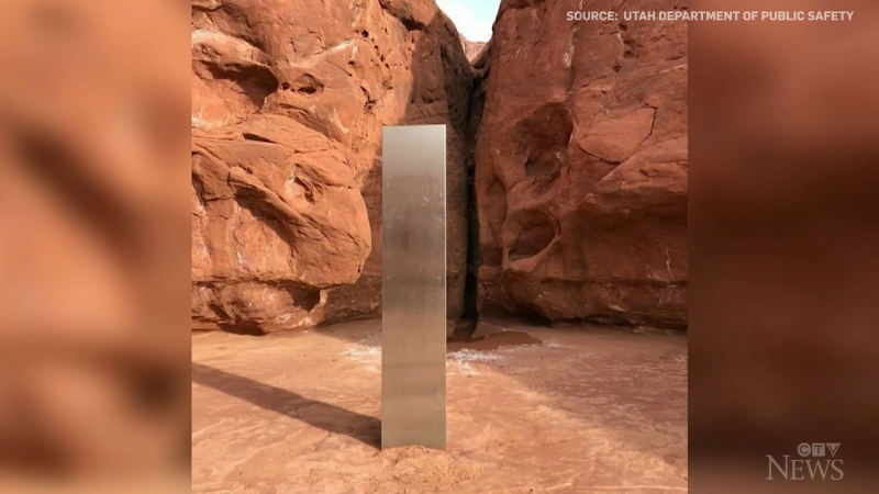 A mysterious metal monolith found in a Utah desert was removed by an 'unknown party' over the weekend.