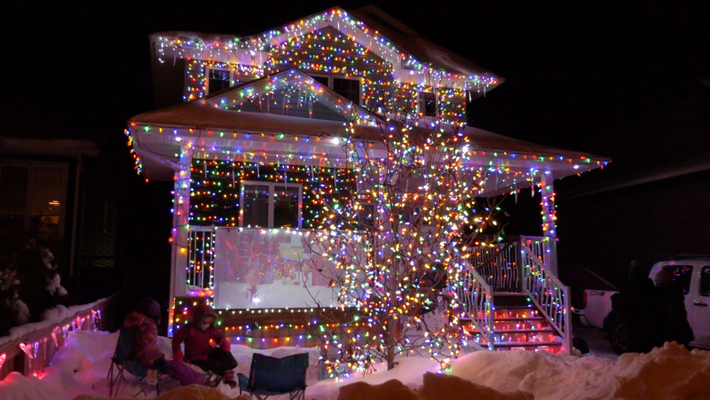 Auryn Kucheran said he started putting up the lights in late September and said it took a couple of weeks to complete.