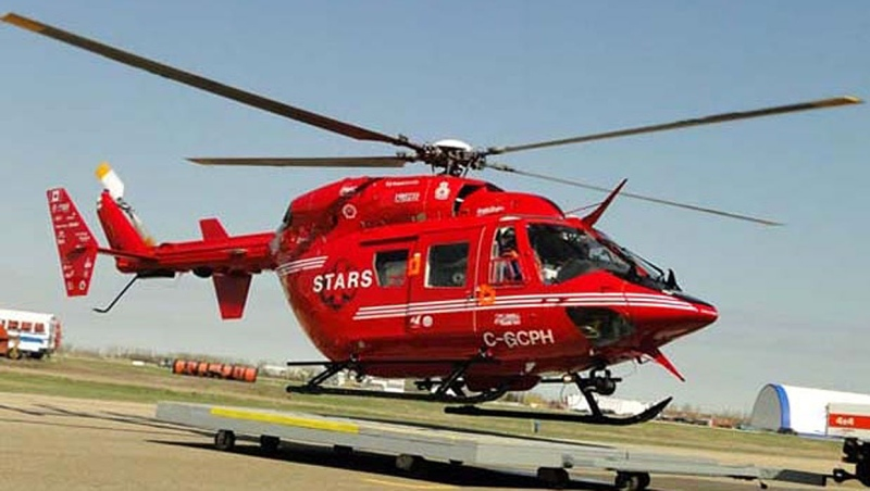 STARS Air Ambulance transported a teenage girl to Foothills Hospital after she was hurt in an ATV crash Saturday. (File)