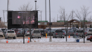 Hundreds of people attended a drive-in service at Springs Church Sunday morning.