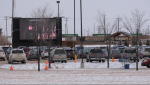 Hundreds of people attended a drive-in service at Springs Church Sunday, November 27.