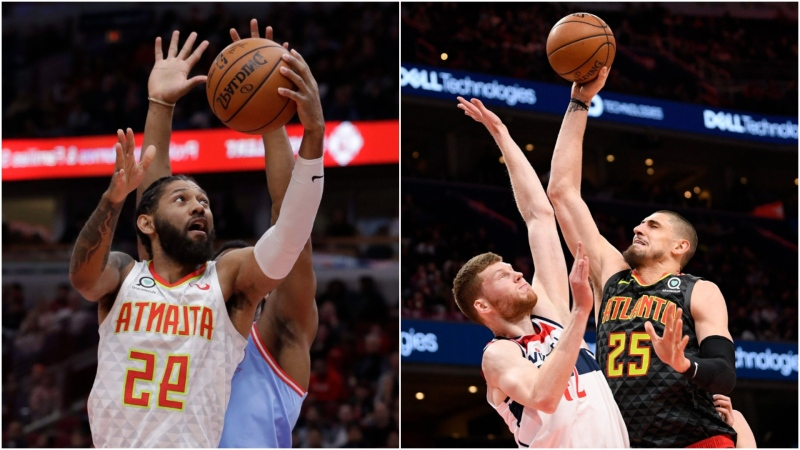 The Toronto Raptors have signed free agents DeAndre' Bembry (left) and Alex Len (right). (AP Photo/Nam Y. Huh/Nick Wass)