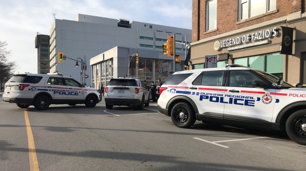 Police are investigating a shooting in Oshawa that left one person dead and another injured. (CP24/Simon Sheehan)