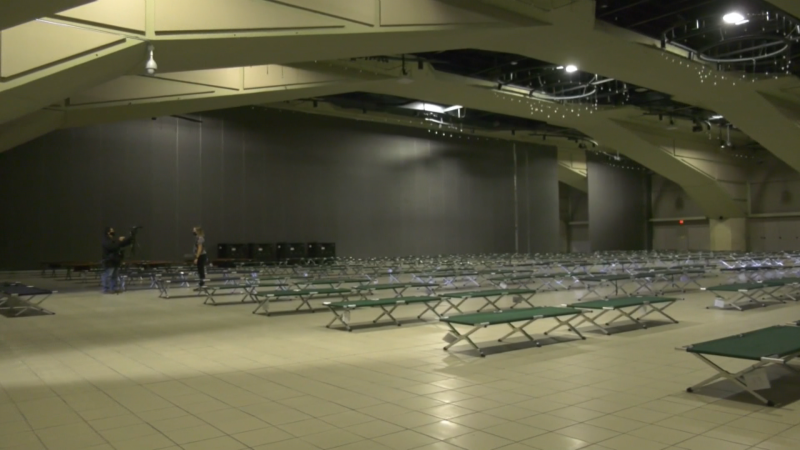 Convention Centre, pandemic shelter