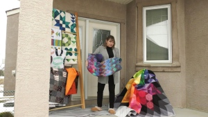 Wendy Attwell is offering her handmade quilts to people who help support the Airdrie Food Bank.