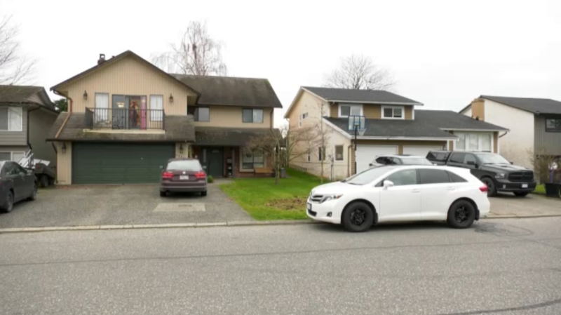 The family did not want to speak on camera Sunday, but said they were getting ready to watch Christmas movies on the second floor of their home Saturday night when the shots rang out. (CTV)