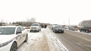 RCMP block drive-in church service near Steinbach
