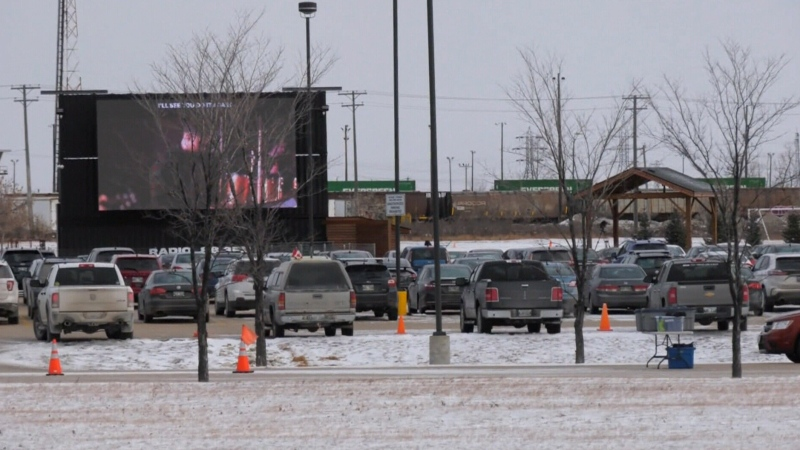 Hundreds attend Winnipeg drive-in church services