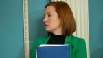 U.S. State Department spokeswoman Jen Psaki stands in on a meeting in Washington, Friday, Feb. 27, 2015. (AP Photo/Pablo Martinez Monsivais)