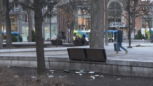 Cabot Square homeless