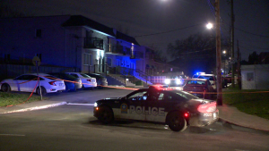 Police are investigating after at least four people were shot at in Montreal on Sunday night / Cosmo Santamaria, CTV News Montreal