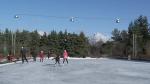 Skaters enjoy the rink at Lansdowne Park on Saturday, Nov. 29, 2020.