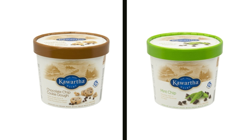 The Canadian Food Inspection Agency is conducting a food safety investigation after Kawartha Dairy voluntarily recalled two flavours of its popular ice cream in Ontario over concerns there could be small pieces of metal in chocolate chips. (CFIA)