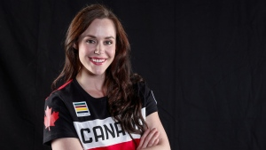 Canadian Olympic athlete Tessa Virtue poses for a photo at the Olympic Summit in Calgary, Alta., Saturday, June 3, 2017.THE CANADIAN PRESS/Jeff McIntosh