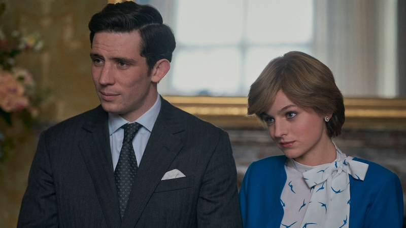 Josh O'Connor as Prince Charles and Emma Corrin as Princess Diana in season four of Netflix's The Crown. (Des Willie/Netflix)