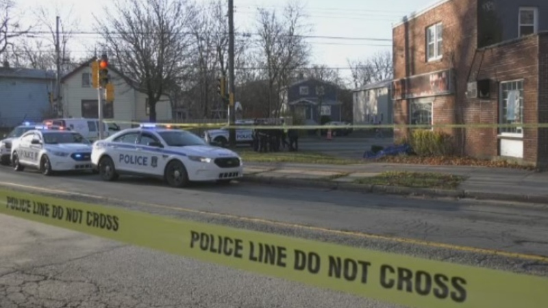 Halifax Regional Police respond after a dead body was found on Nov. 30, 2020.